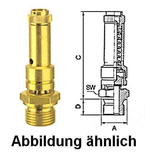 "TÜV Sicherheitsventil Überdruckventil Kompressor 8 bar 1//4/"""