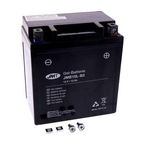 motorrad batterie jmt yb10l b2 gel motorradteile service. Black Bedroom Furniture Sets. Home Design Ideas