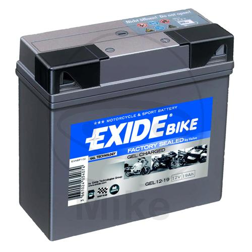 exide motorrad batterie gel 519901 g19 motorradteile service. Black Bedroom Furniture Sets. Home Design Ideas