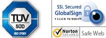 TÜV-geprüfte Datensicherheit